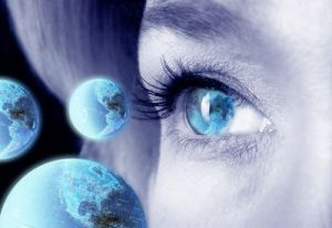 Woman's Eye and Globes